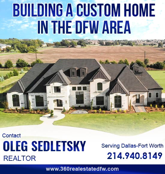 Realtor Helping to negotiate best deal wneh building Custom Home in the Dallas-Fort Worth area