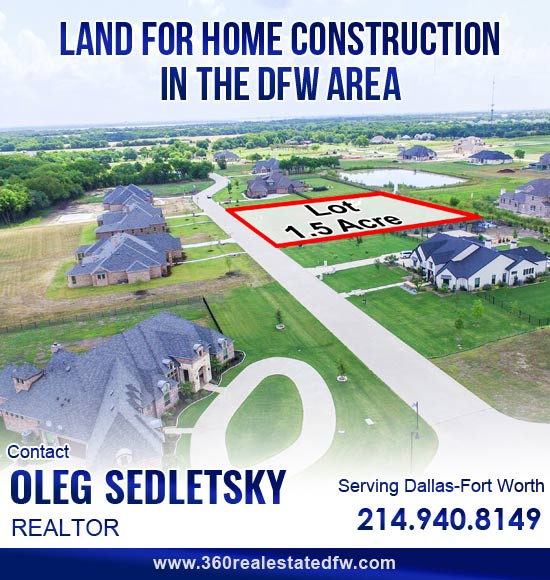 Realtor Helping to purchase vacant Land/Lots in the Dallas-Fort Worth area