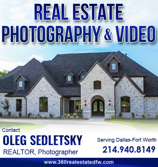 Real Estate Photography, Real Estate Video production available in the Dallas-Fort Worth area
