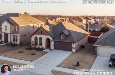 New Construction Home in Melissa, TX. Contact Oleg Sedletsky REALTOR - 214.940.8149 - www.360RealEstateDFW.com - JP & Associates Realtors 4 Beds, 2 Baths, 2 Car Garage, 1888 sqft Note! Information provided is deemed reliable, but is not guaranteed and should be independently verified. Price and Home Availability is subject to change without notice. Square footages are approximate.