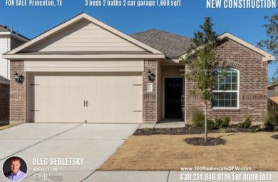 New Construction Home in Princeton, TX Contact Oleg Sedletsky REALTOR - 214.940.8149 - www.360RealEstateDFW.com - JP & Associates Realtors 3 Beds, 2 Baths, 2 Car Garage, 1608 sqft Note! Information provided is deemed reliable, but is not guaranteed and should be independently verified. Price and Home Availability is subject to change without notice. Square footages are approximate.