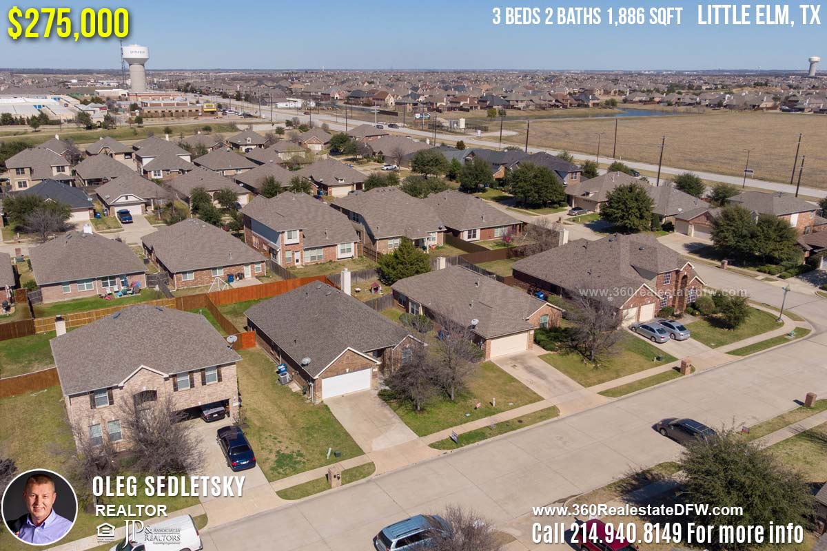 House For Sale in Little Elm, TX. 3 beds 2 baths 1,886 sqft. Frisco ISD - Call 214.940.8149 Oleg Sedletsky Realtor