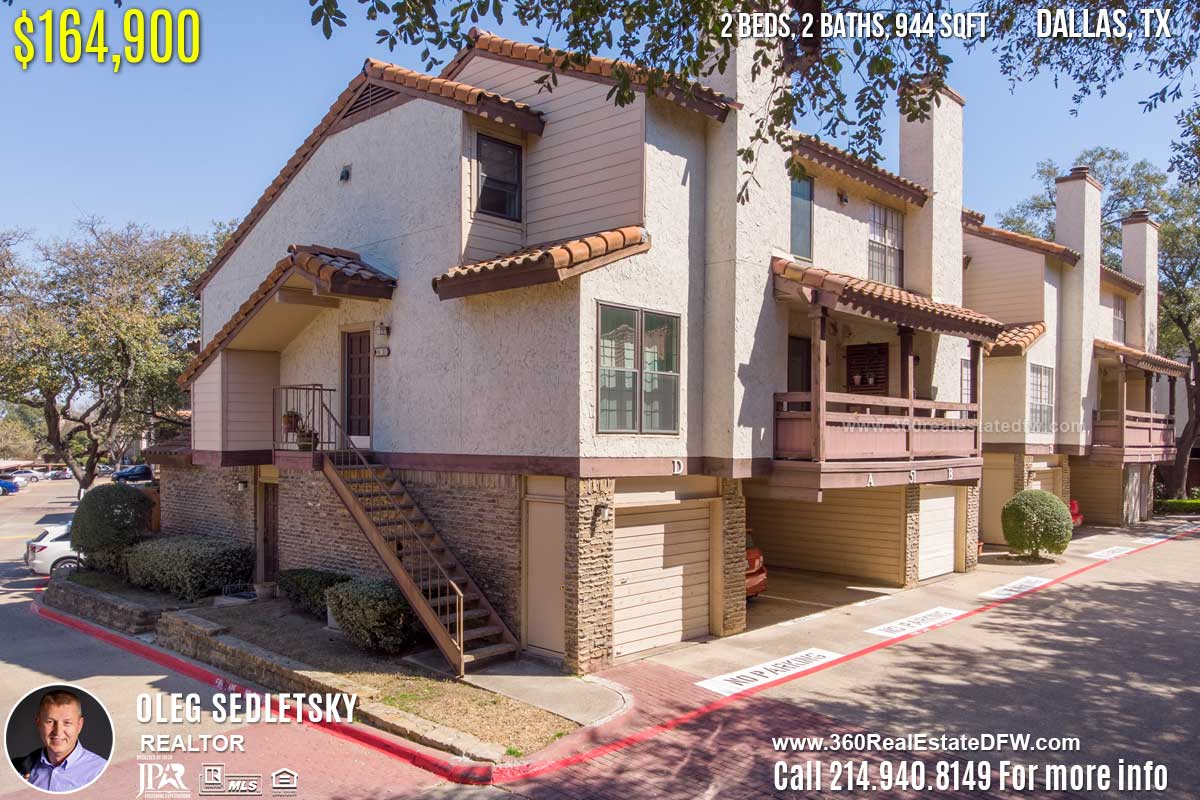5626 Preston Oaks Rd APT 51D, Dallas, TX 75254 - $164,900 - Condo For Sale 2 bd, 2 ba, 944 sqft. Call 214.940.8149 Oleg Sedletsky Realtor