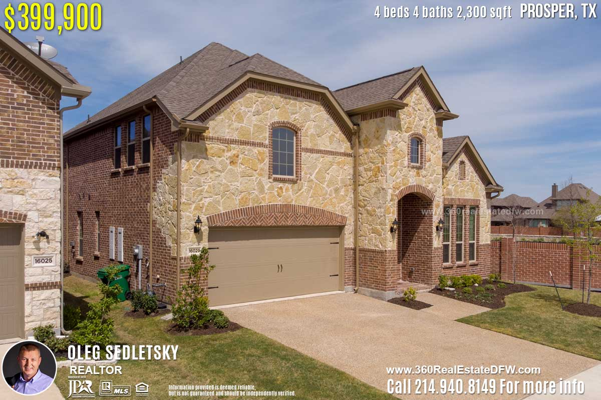 House For Sale in Prosper, TX. 4 beds 4 baths 3,300 sqft. Prosper ISD - Call 214.940.8149 Oleg Sedletsky Realtor