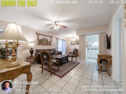 Condo For Sale in Dallas TX. 2 beds 2 baths 864 sqft. Dallas ISD - Call 214.940.8149 Oleg Sedletsky Realtor in Dallas, TX