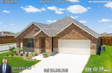 New Construction Home in Princeton, TX. June 2020. Contact Oleg Sedletsky REALTOR - 214.940.8149 From the Mid $200s. 1story, 4 Beds, 3 Baths, 2 Car Garage, 2060 sqft Note! Information provided is deemed reliable, but is not guaranteed and should be independently verified. Price and Home Availability is subject to change without notice. Square footages are approximate.
