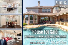 For Sale 4Bd, 3.1 Ba, 4188 Sqft, in Allen, TX with Allen ISD. Well maintained 2 story home in highly sought after Twin Creeks! Call Oleg Sedletsky Realtor at 214-940-8149