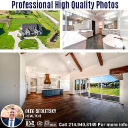 Professional photography included when you hire Oleg Sedletsky Realtor to sell your house in DFW