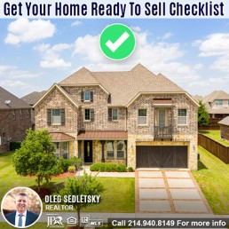 Get Your House Ready For Sale in DFW-Contact Oleg Sedletsky REALTOR - 214.940.8149