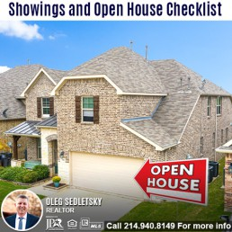Open House Checklist - Oleg Sedletsky 214-940-8149